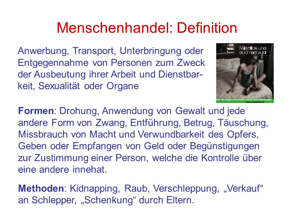 Menschenhandel: Definition