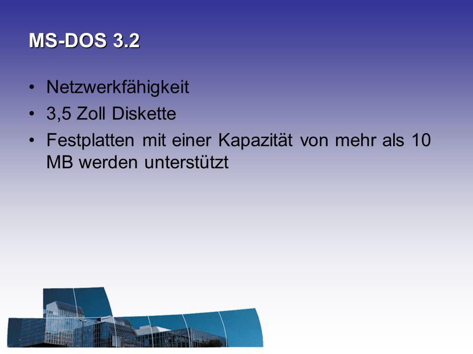 MS-DOS 3.2 Netzwerkfähigkeit 3,5 Zoll Diskette