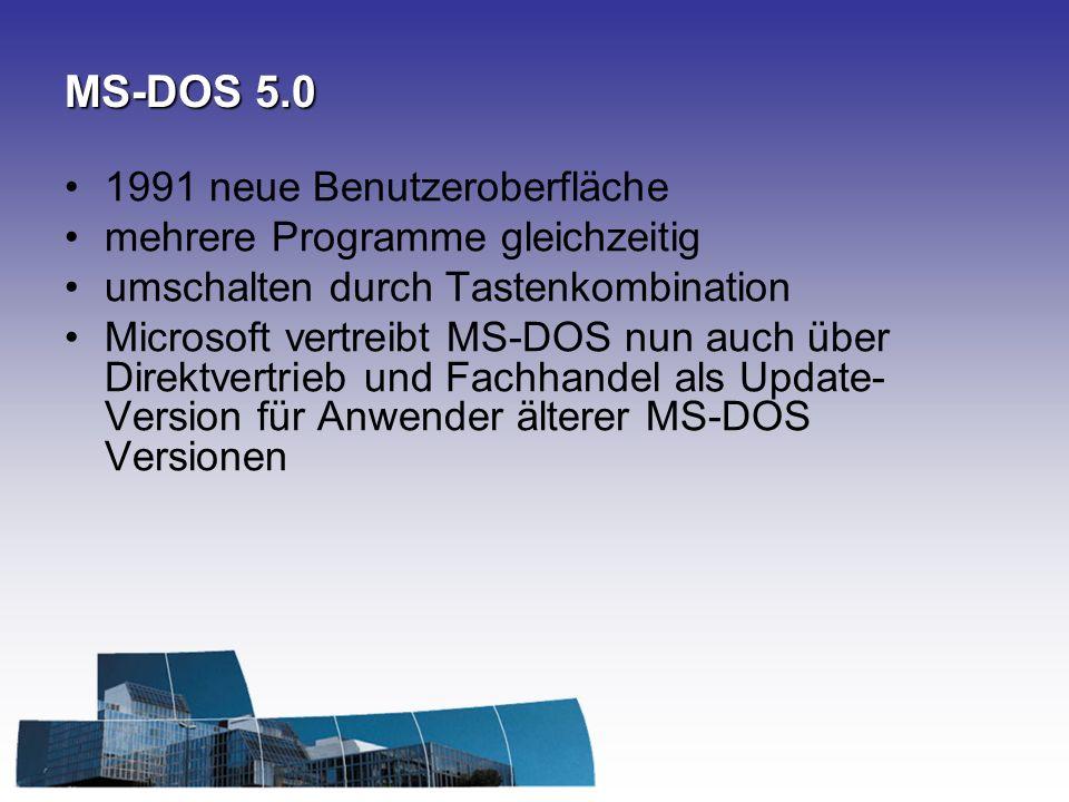 MS-DOS 5.0 1991 neue Benutzeroberfläche mehrere Programme gleichzeitig