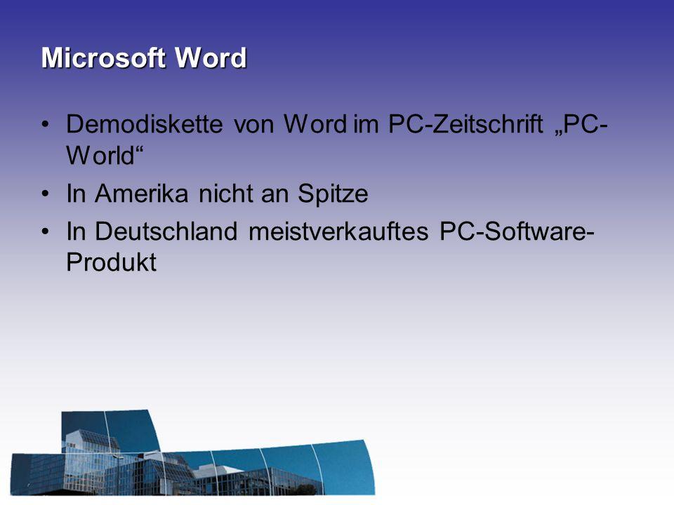 """Microsoft Word Demodiskette von Word im PC-Zeitschrift """"PC-World"""