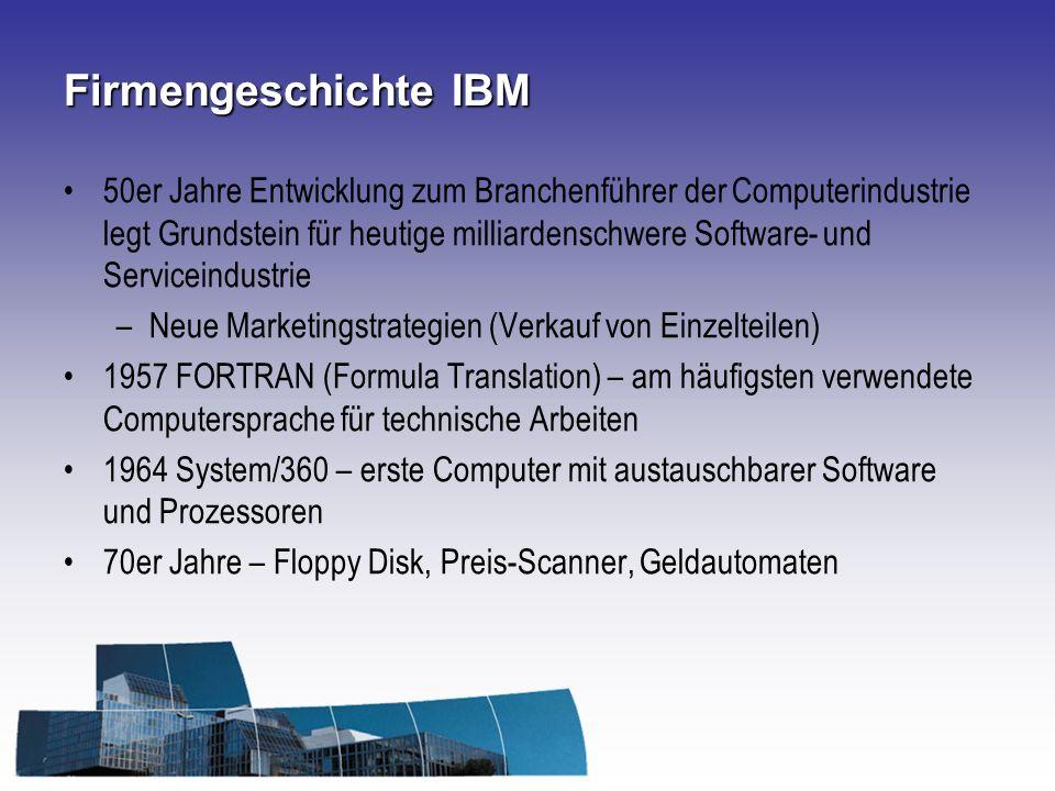 Firmengeschichte IBM