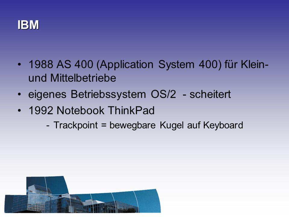 IBM 1988 AS 400 (Application System 400) für Klein- und Mittelbetriebe