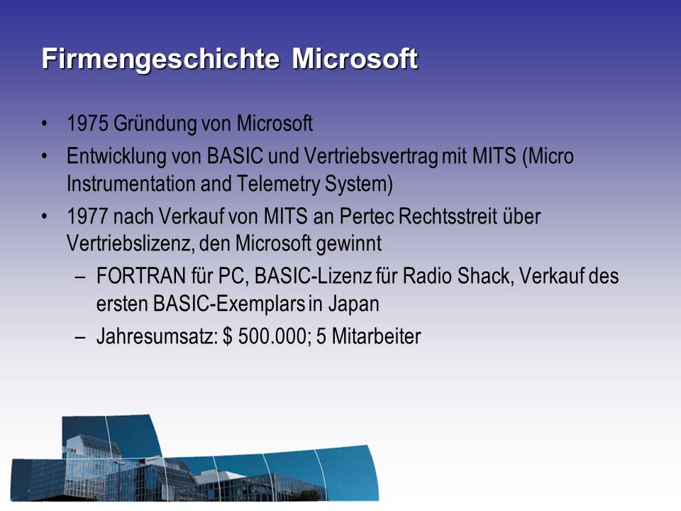 Firmengeschichte Microsoft