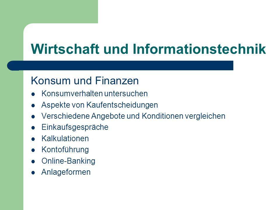 Wirtschaft und Informationstechnik