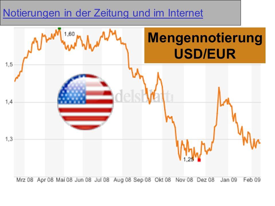 MengennotierungUSD/EUR