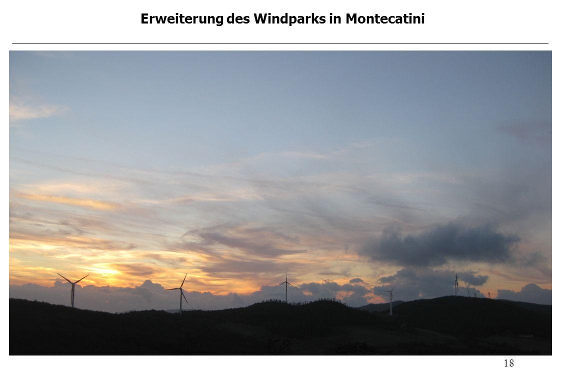 Erweiterung des Windparks in Montecatini