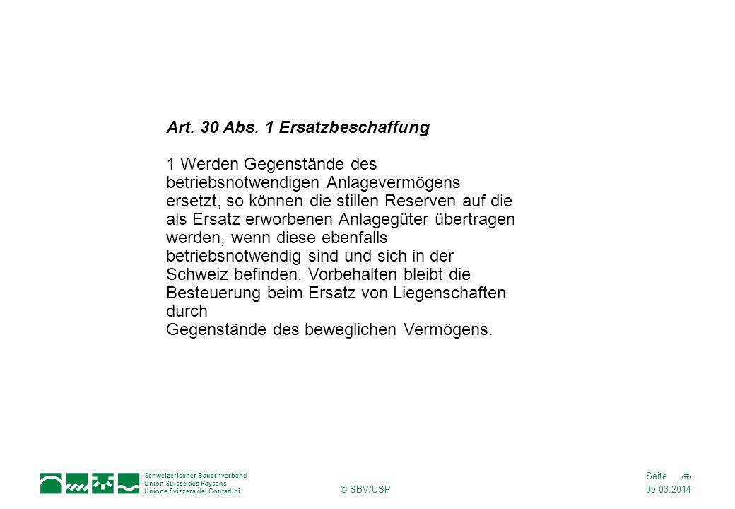 Art. 30 Abs. 1 Ersatzbeschaffung