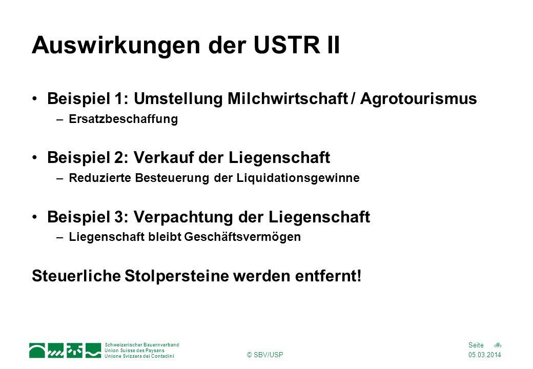 Auswirkungen der USTR II