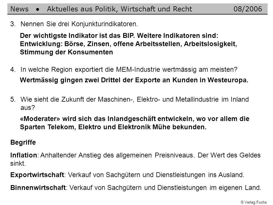 News ● Aktuelles aus Politik, Wirtschaft und Recht 08/2006