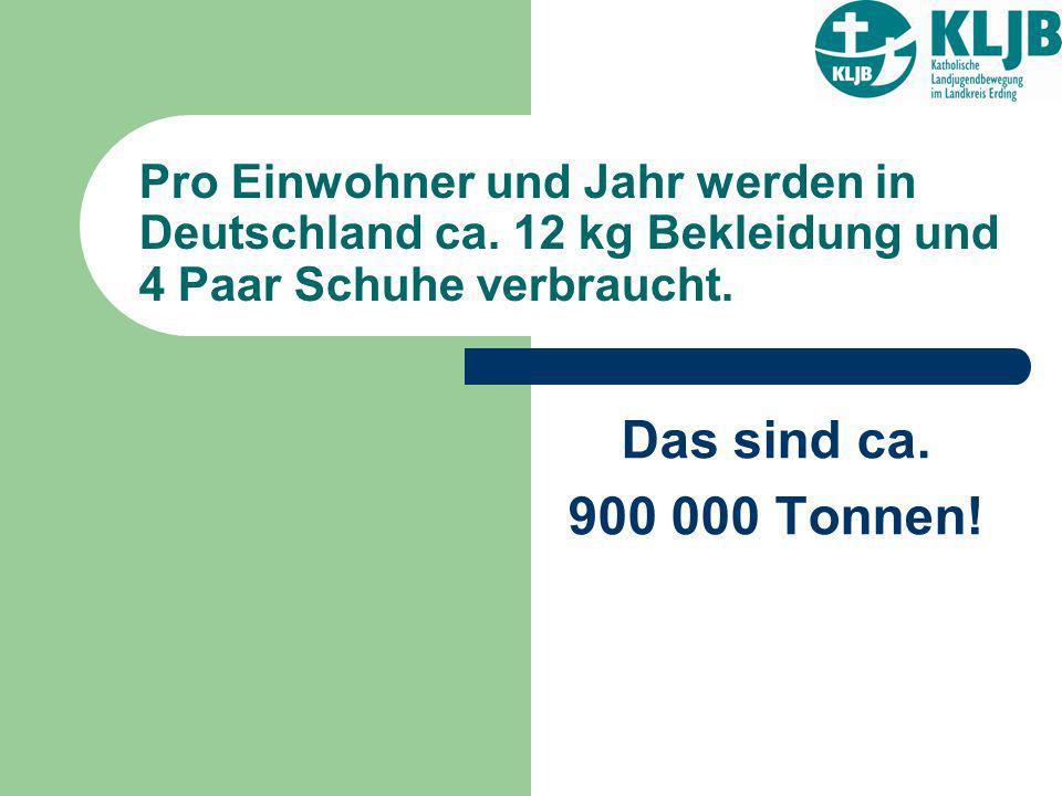 Pro Einwohner und Jahr werden in Deutschland ca