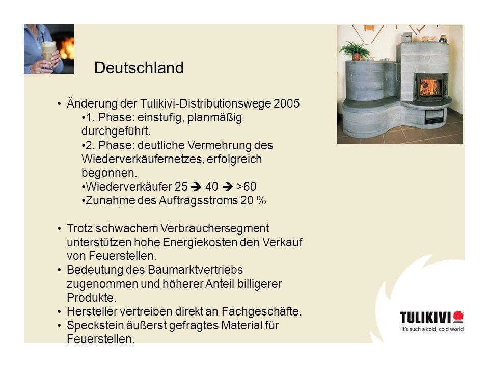 Deutschland Änderung der Tulikivi-Distributionswege 2005