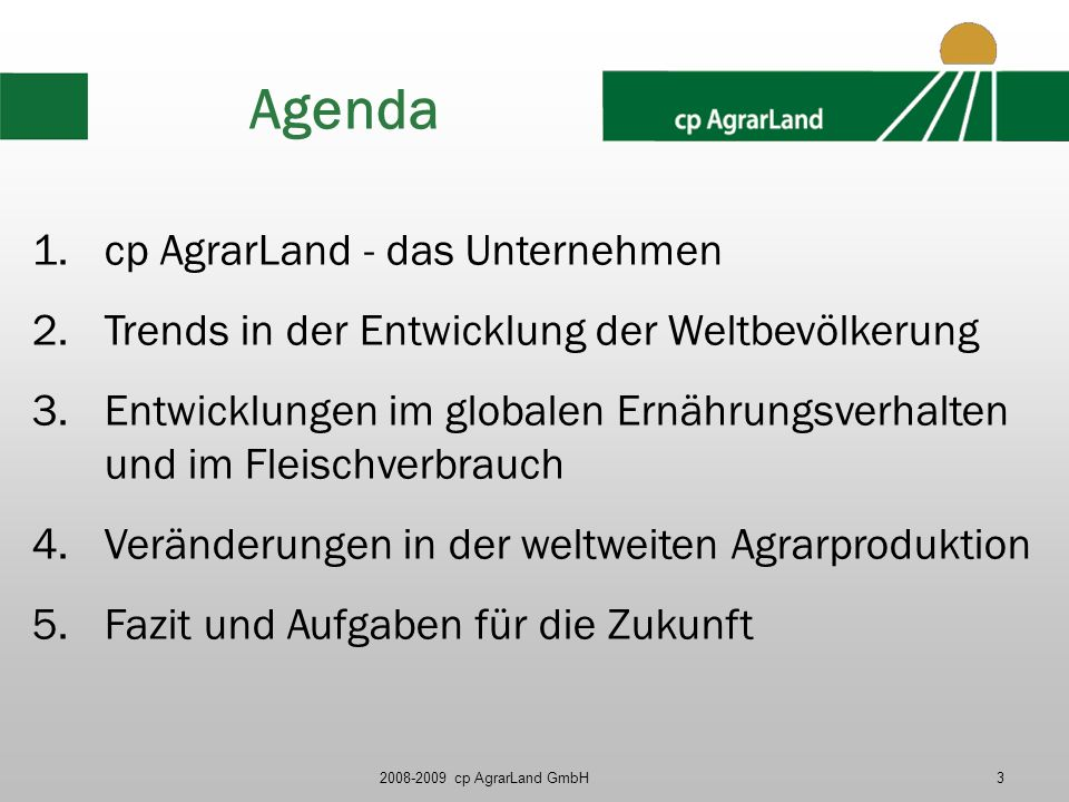 Agenda cp AgrarLand - das Unternehmen