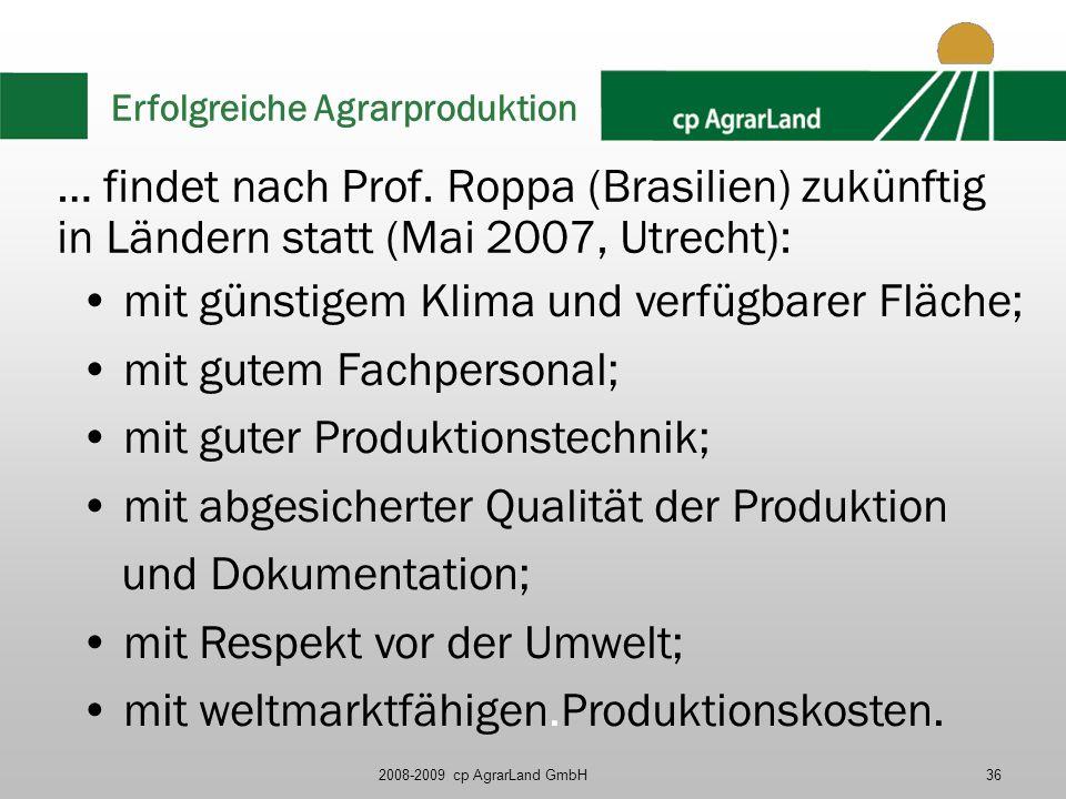 Erfolgreiche Agrarproduktion
