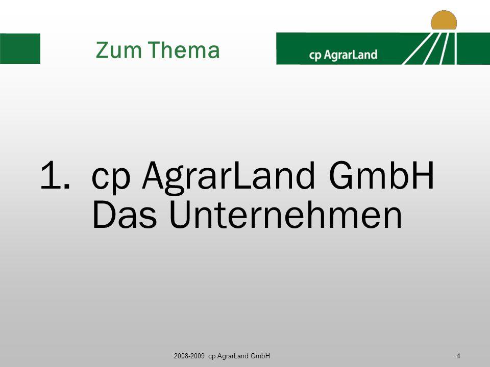 cp AgrarLand GmbH Das Unternehmen