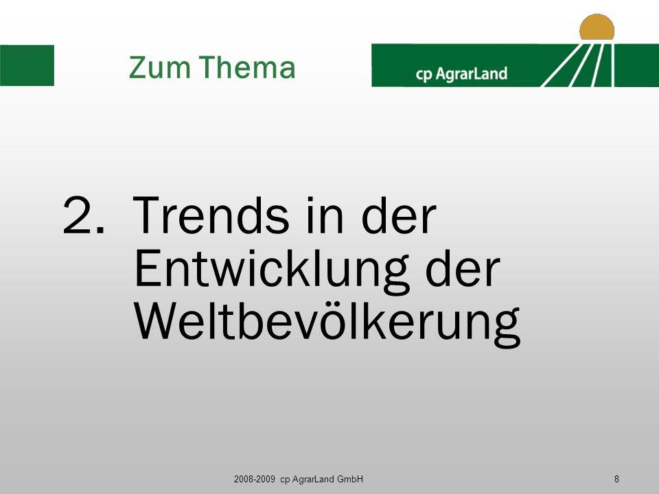 Trends in der Entwicklung der Weltbevölkerung