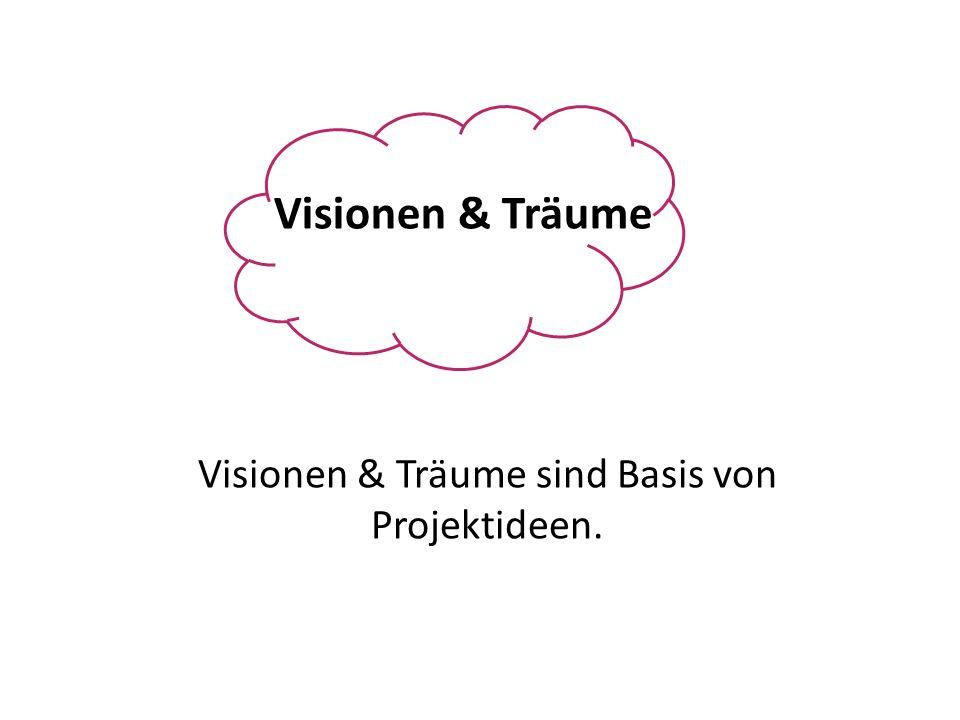Visionen & Träume sind Basis von Projektideen.