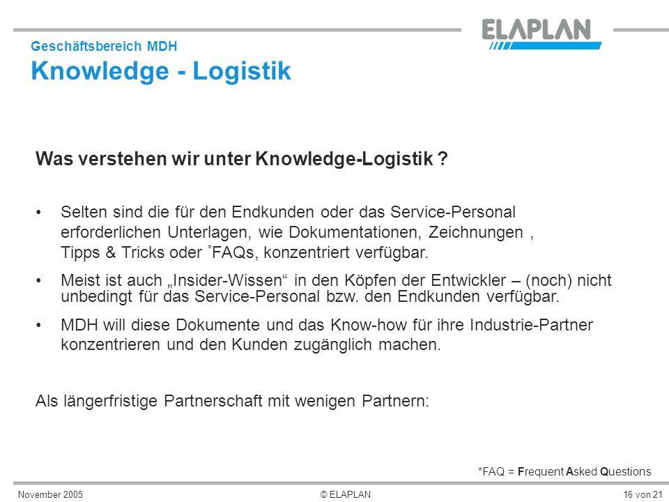 Knowledge - Logistik Was verstehen wir unter Knowledge-Logistik