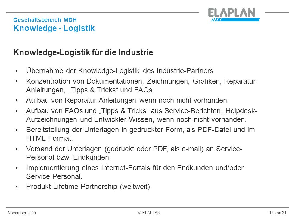 Knowledge-Logistik für die Industrie