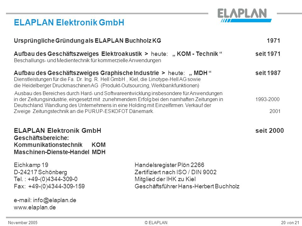 ELAPLAN Elektronik GmbH