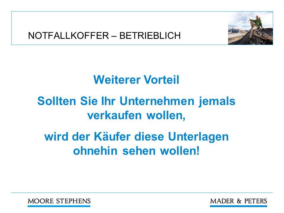 NOTFALLKOFFER – BETRIEBLICH