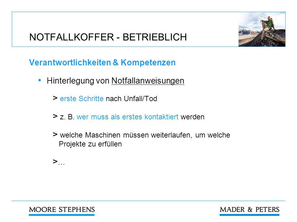 NOTFALLKOFFER - BETRIEBLICH