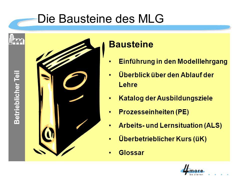 Die Bausteine des MLG Bausteine Einführung in den Modelllehrgang