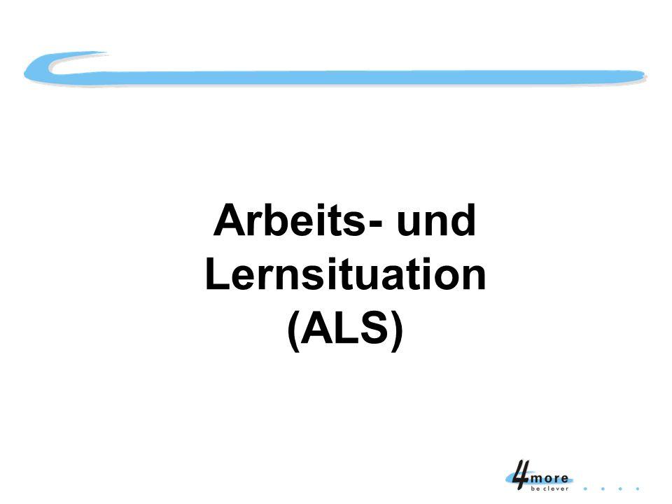 Titelblatt Arbeits- und Lernsituation (ALS)
