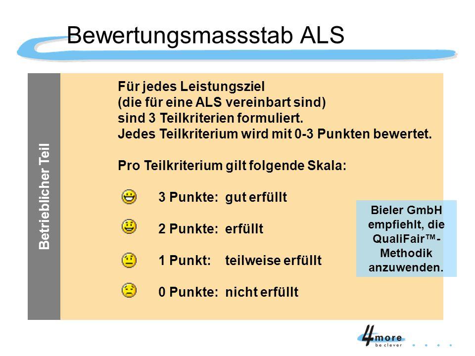Bewertungsmassstab ALS