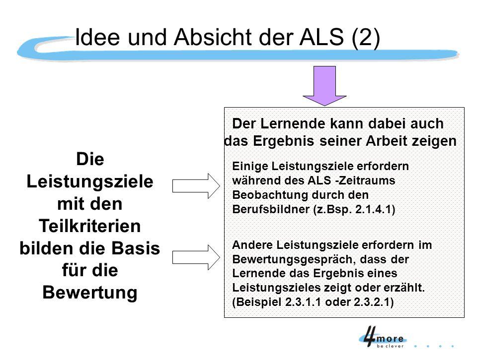 Idee und Absicht der ALS (2)