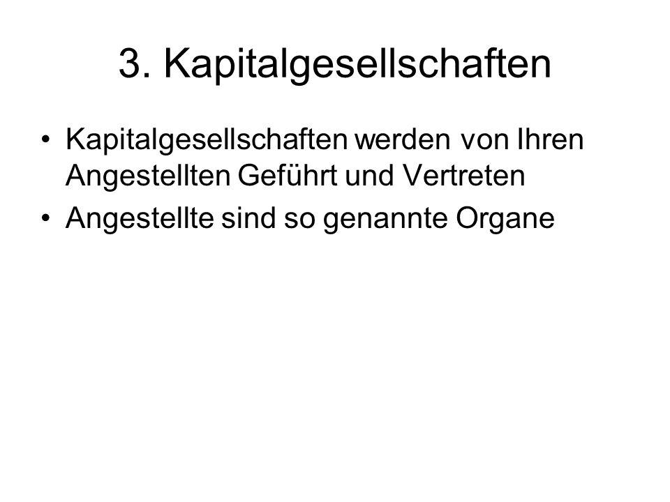 3. Kapitalgesellschaften