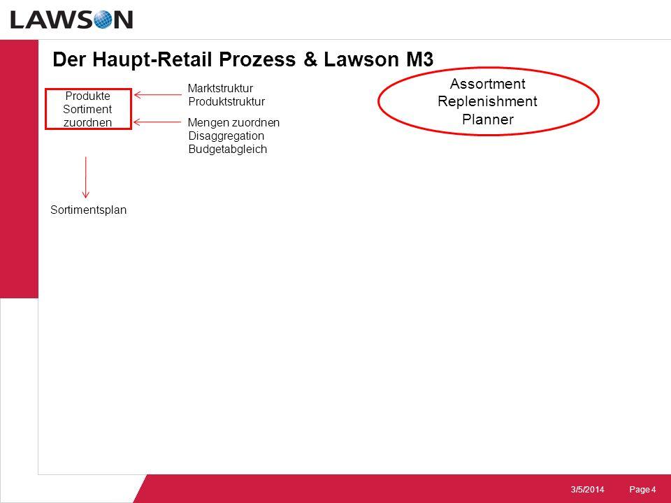 Der Haupt-Retail Prozess & Lawson M3