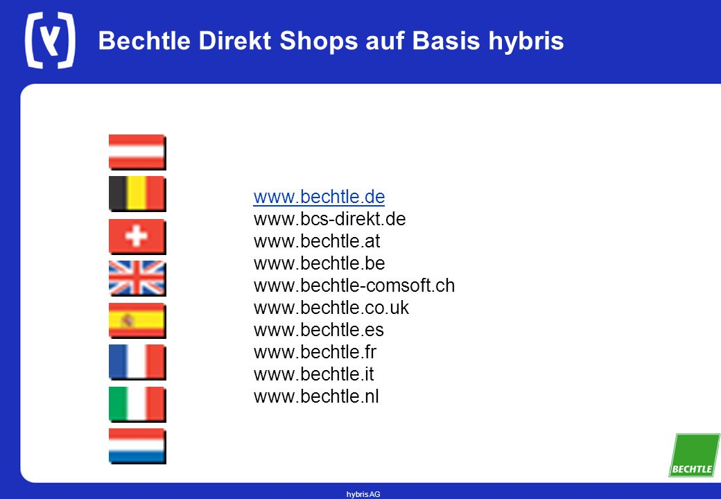 Bechtle Direkt Shops auf Basis hybris