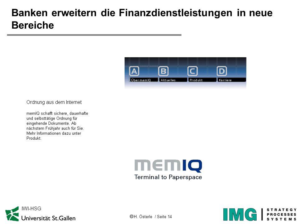 Banken erweitern die Finanzdienstleistungen in neue Bereiche