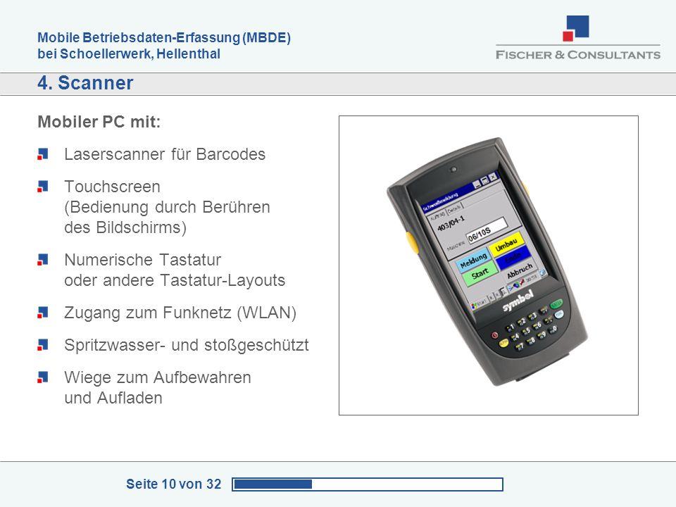 4. Scanner Mobiler PC mit: Laserscanner für Barcodes