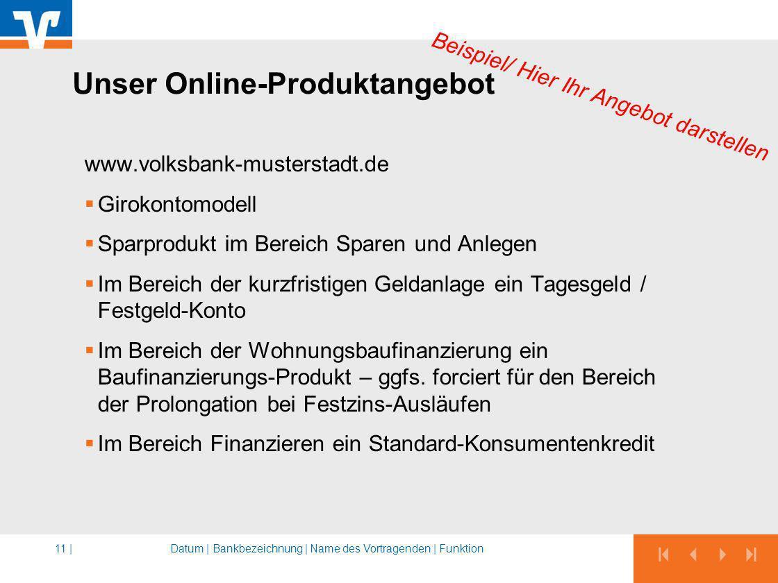 Unser Online-Produktangebot