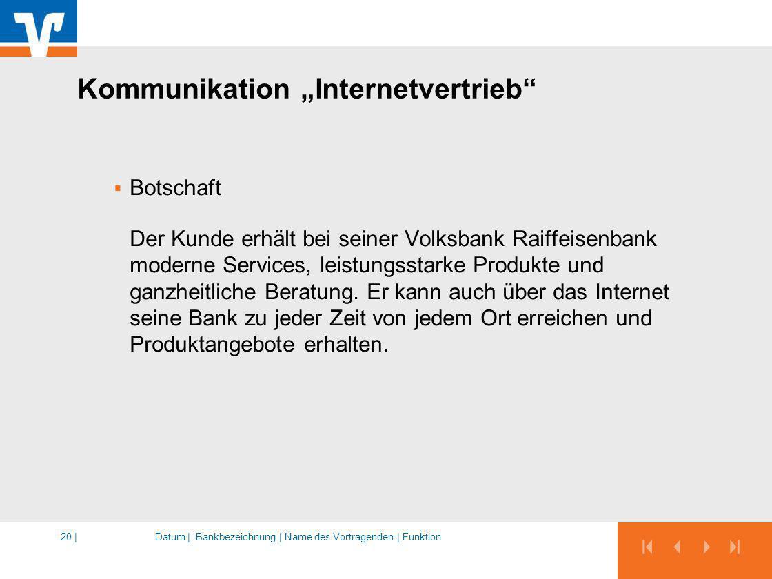 "Kommunikation ""Internetvertrieb"