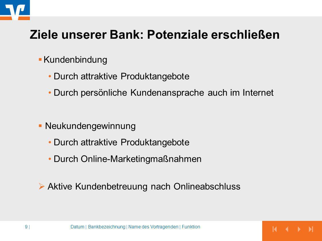 Ziele unserer Bank: Potenziale erschließen