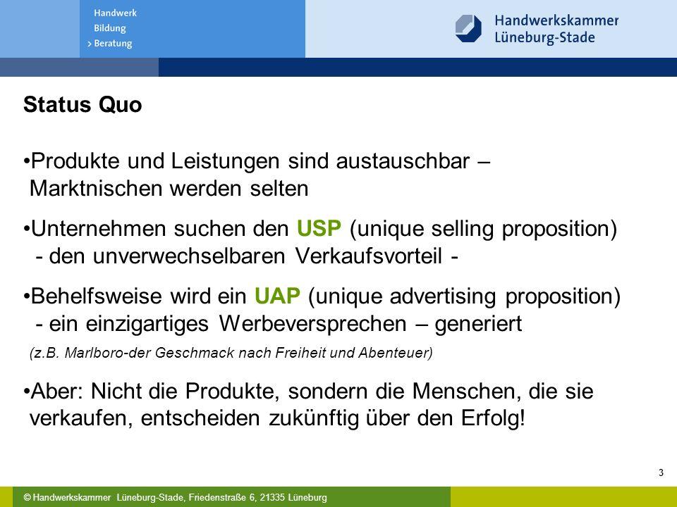 Status Quo Produkte und Leistungen sind austauschbar – Marktnischen werden selten.