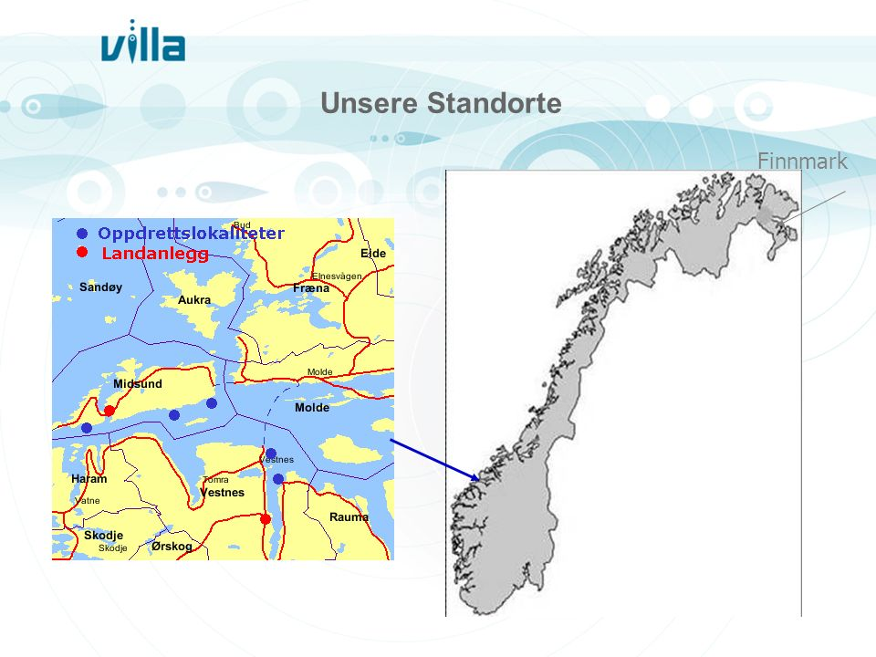 Unsere Standorte Finnmark We are located in Romsdalen and Finnmark…..