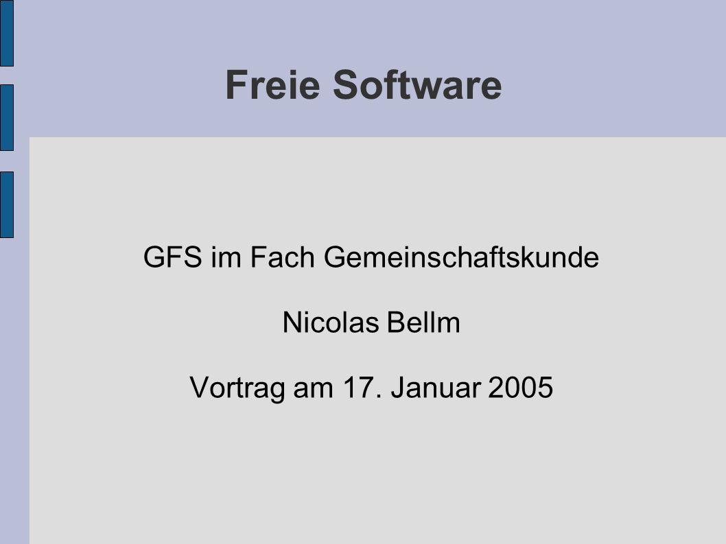 GFS im Fach Gemeinschaftskunde