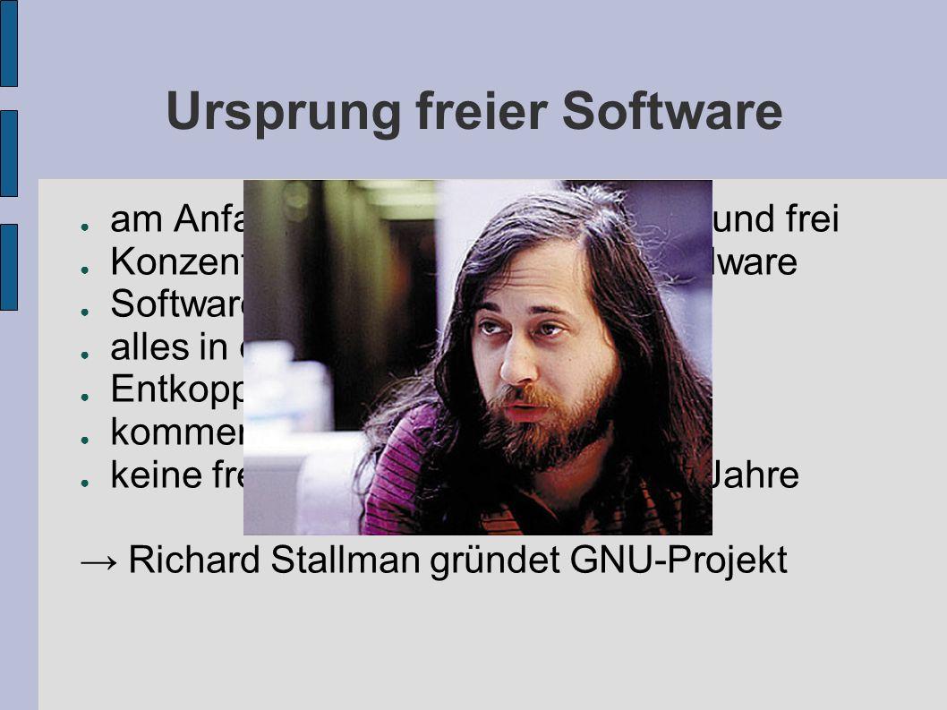Ursprung freier Software