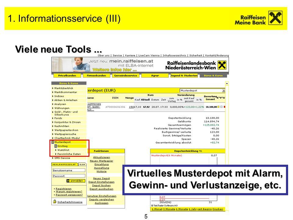 1. Informationsservice (III)