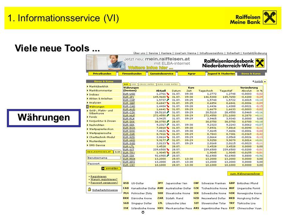 1. Informationsservice (VI)