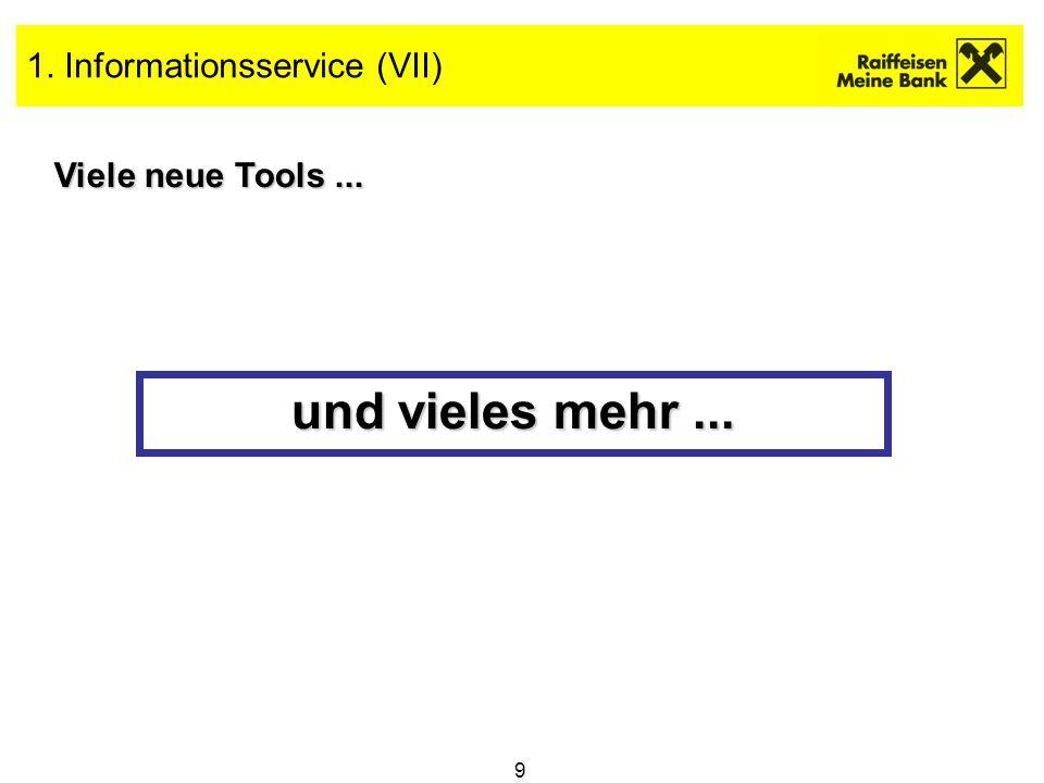 1. Informationsservice (VII)