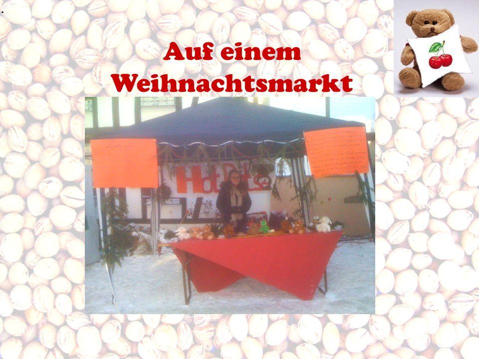 Auf einem Weihnachtsmarkt