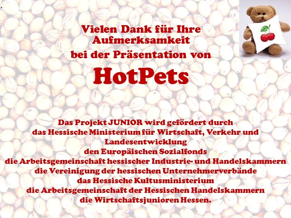 HotPets Vielen Dank für Ihre Aufmerksamkeit bei der Präsentation von