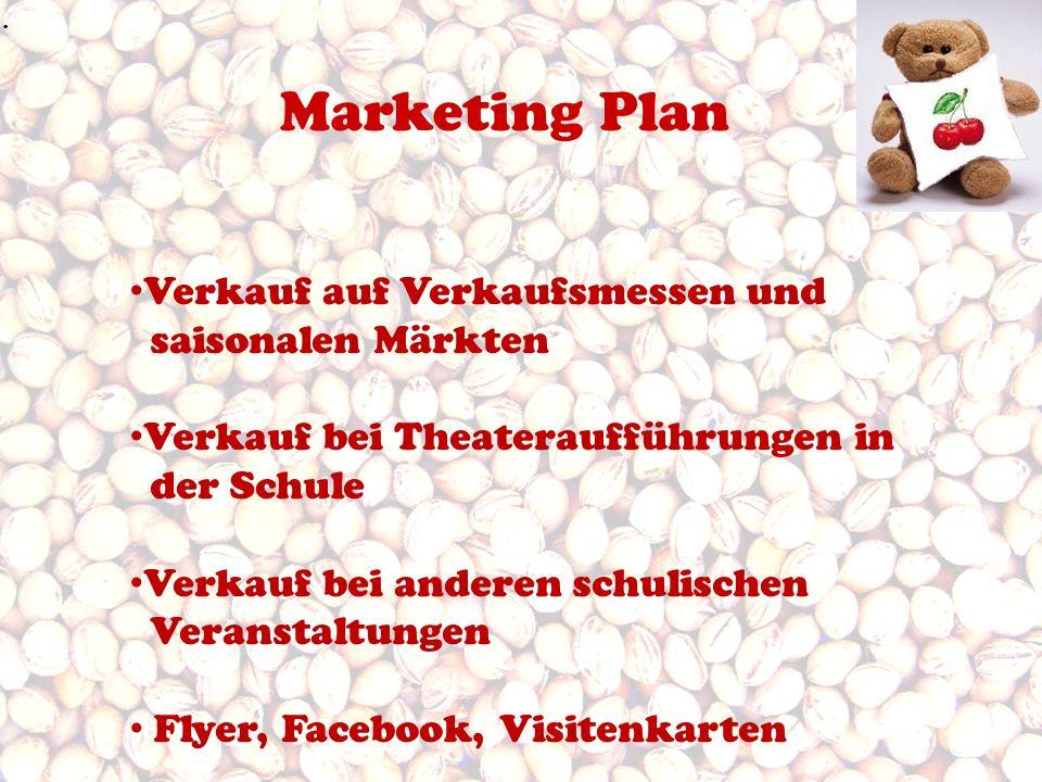 Marketing Plan Verkauf auf Verkaufsmessen und saisonalen Märkten