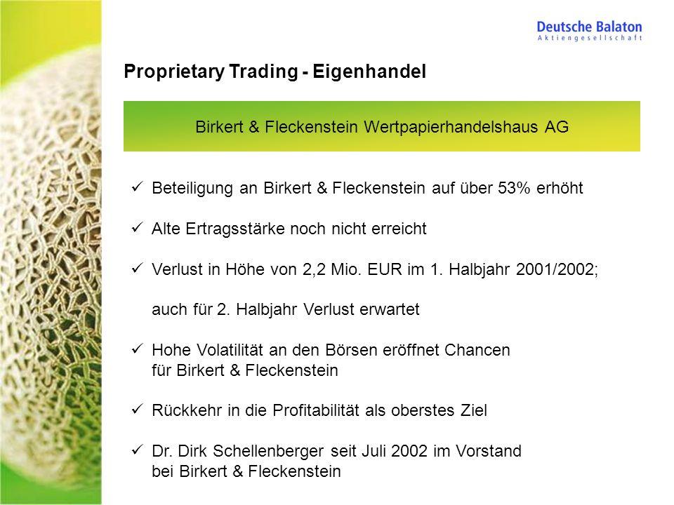 Birkert & Fleckenstein Wertpapierhandelshaus AG