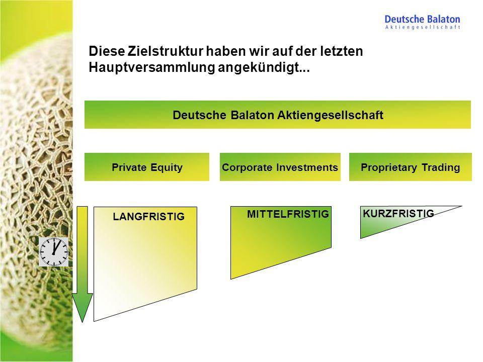 Deutsche Balaton Aktiengesellschaft Corporate Investments