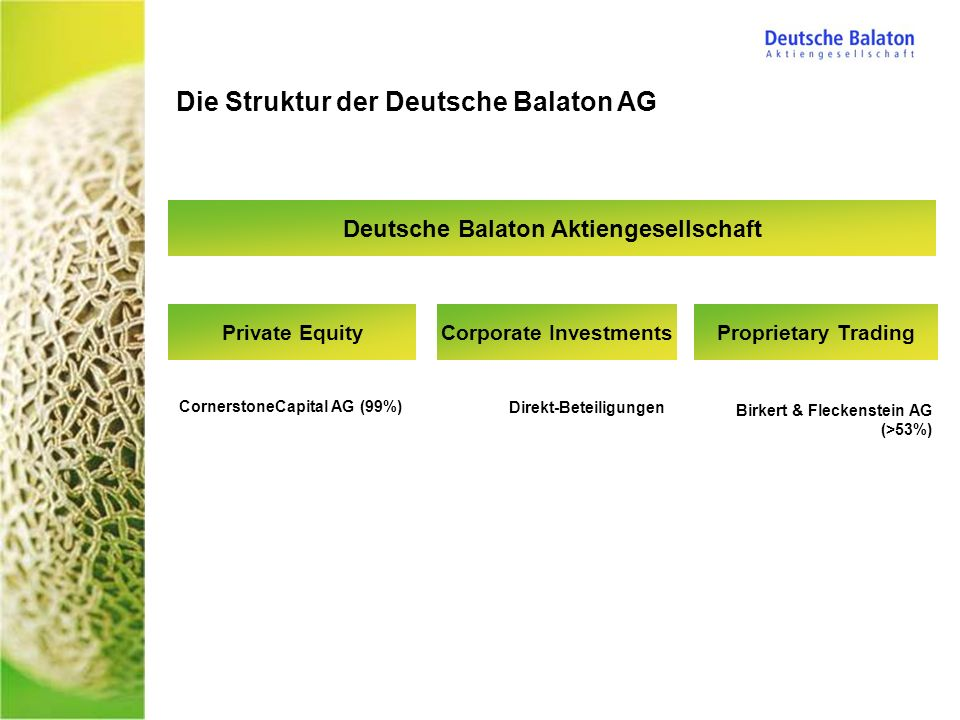 Deutsche Balaton Aktiengesellschaft Corporate Investments